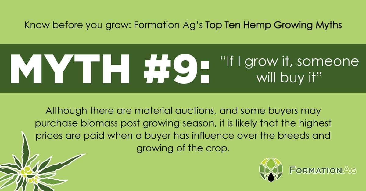 "Myth #9: ""If I grow it someone will buy it."""